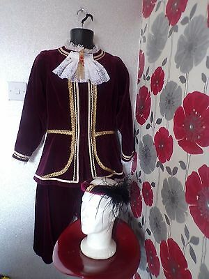 Quality Hand Crafted Medieval Black Adder Style 4 Piece Unisex Outfit Size S/m