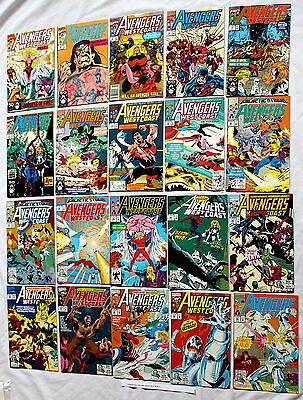 Avengers West Coast 1989-1994 Marvel Spider-Man Woman Wolverine Ultron #71-90 VF