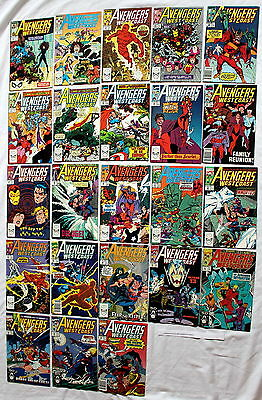 Avengers West Coast 1989-1994 Torch Scarlet Witch Magneto JOHN BYRNE #48-70 VF