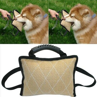 Durable Dog Training Bite Tugs Pet Bite Pillow Jute Dog Bite Arm Sleeve for K9