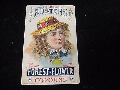 1800's Austens Forest Flower Cologne Wemple Co. Test PA Victorian Trade Card