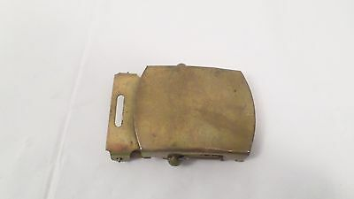 Vintage Made in USA Brass Miltary Style Belt Buckle