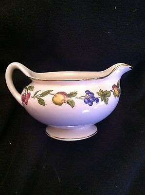 "Homer Laughlin Eggshell Nautilus ""Fruit"" Creamer, Gold Trim"