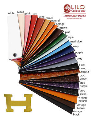 Premium Leather Straps for Hermes Belts Handmade in Spain 21 Colors!