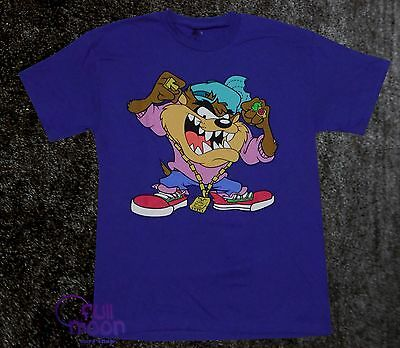 New Looney Tunes Thug Tasmanian Devil Classic Taz  Mens T-Shirt