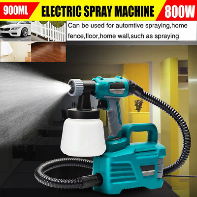 800W Electric Paint Spray Gun Painter Machine Latex Spraying Paint 220V 900ML