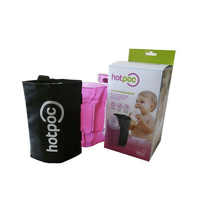 Click Gel Baby Bottle Portable Instant Warmer w' Insulated Bag & Stroller Clip