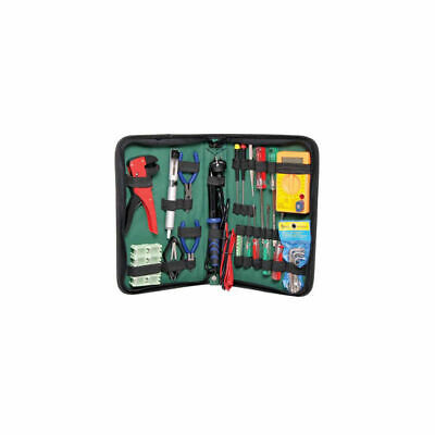 20 Piece Electronic Tool Kit With Soldering Iron essentials required carry case