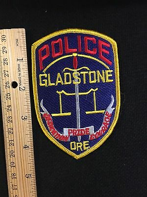Gladstone  Oregon  Police  Shoulder Patch