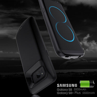 Black 150% Extra Battery Charger Case For Samsung Galaxy S8 S8 Plus iPhone 8 7 6
