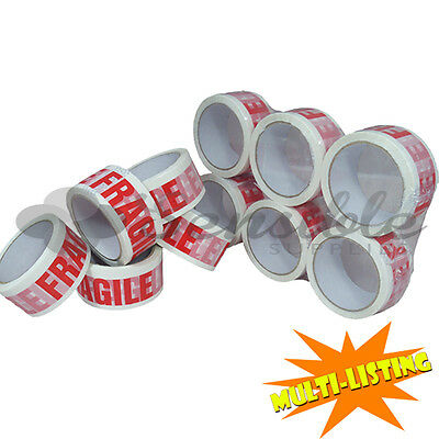LOW NOISE STRONG FRAGILE PARCEL PACKING BOX SEALING TAPE 48mm x 66M LONG LENGTH