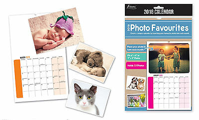 Make Your Own Personalised A4 Photo Calendar 2018 Add Pictures Unique Gift YPP18
