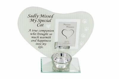 Special Remembrance Memorial Cat Tea Light Holder DF17397