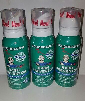 Boudreaux's Rash Preventor Daily Skin Protectant, 1.5 oz, lot of 3!!
