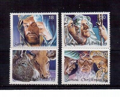 Samoa 1989 Christmas Set 4 Stamps #765/68 Vf Nh !!