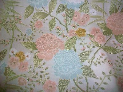 Pastel Flowers Cotton Upholstery Fabric - 3+ Yards! - Bloomcraft