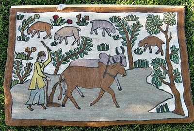 Vintage Hand Made Middle/Far Eastern Tapestry/Wall Hanging-Agricultural Theme