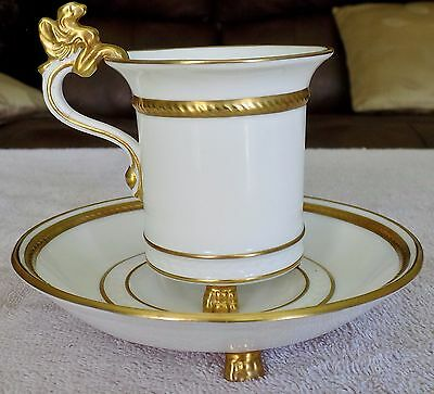 Unusual Napoleonie Hammersley & Co Demitasse cup & saucer made in England