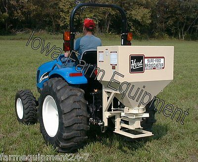 Herd 750 9.6 Bu Tractor 3-Point PTO Broadcast Grass Seeder, Fertilizer Spreader