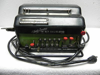 "(RC) Antique R.C. ALLEN ""World Famous"" 10-Key Electric Calculator: Office Decor?"
