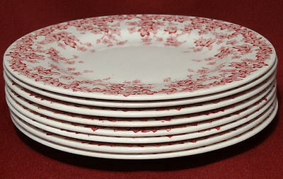 """Crown Ducal Early English Ivy (Joy) Pink 6 1/8"""" Cake Bread Plates Dishes- NICE!"""