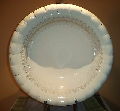 "Large Vintage Ceramic Porcelain  Wash Basin Bowl   Marked ""  The Colonial """