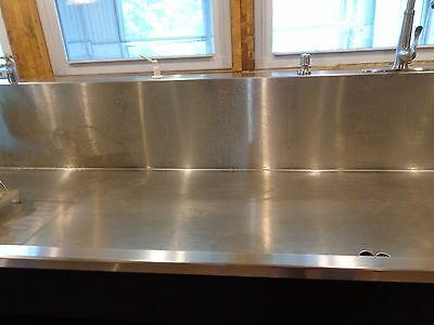 Huge Stainless Steel 8' Foot Sink with shelf single compartment (Large)
