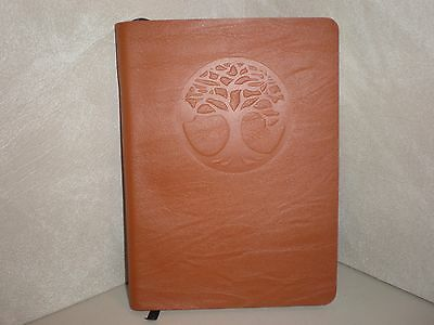 "Red Co ""Tree of Life"" Genuine Leather Journal, 5""x7"", 240 Lined Pages"