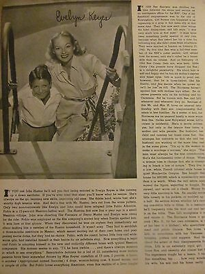 Evelyn Keyes, Full Page Vintage Clipping
