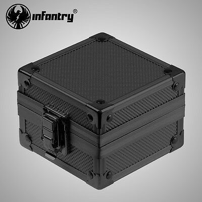 Infantry Watch Box Storage Case Holder Army Pillow Cushion Display Metal Black