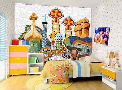3D House illustration WallPaper Murals Wall Print Decal Wall Deco AJ WALLPAPER