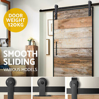 2m Sliding Barn Door Hardware Track Set Home Office Bedroom Interior Closet