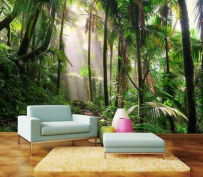 3D Rainforest Path 1168 WallPaper Murals Wall Print Decal Wall Deco AJ WALLPAPER