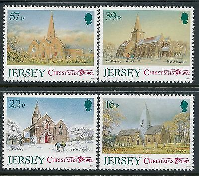 1992 Jersey Christmas: Churches Set Of 4 Fine Mint Mnh/muh