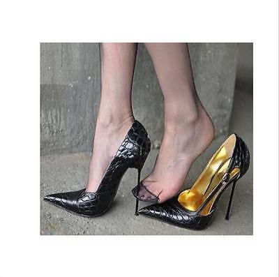 Women Pointed Toe Patent Leather Stilettos OL Sexy Nightclub Party Shoes Full sz