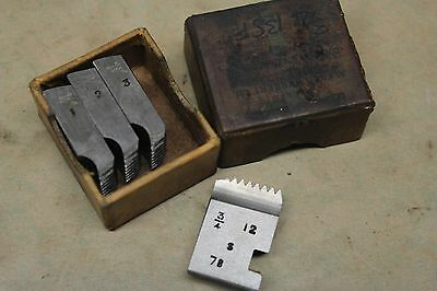 "Alfred Herbert 3/4"" x 12 Tpi BSF Coventry Die Chasers For 3/4"" Head CD372"
