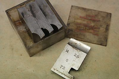 "Alfred Herbert 1/4"" x 26 Tpi BSF Coventry Die Chasers For 1"" Head CD384"