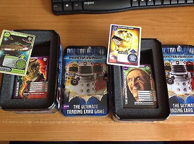 Dr Who / Doctor Who Monster Invasion Tin X 2  Trade card's Opened but not used.