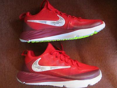 Nike Vapor Speed Trainer Turf Shoes Cleats Sz 10.5 Destroyer Nubby Red  Camo