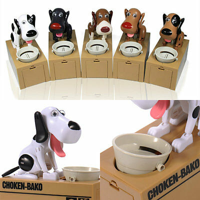 Choken Hungry Eating Dog Coin Bank Money Saving Boxes Piggy Bank Children Gifts