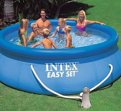 "INTEX Large Round Easy Set Swimming Pool - 13ft by 33"" with Filter Pump  #28142"