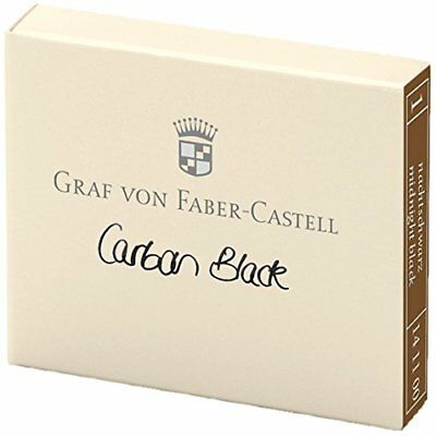Faber-Castell - Fountain Pen - Cartridges - Carbon Black - Box of 6 New 141100