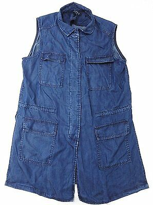 Buffalo David Bitton Ladies' Size Medium Sleeveless Lightweight Vest, Denim