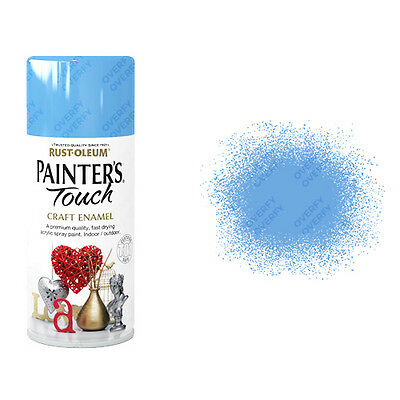 x19 Rust-Oleum Painters Touch Craft Enamel Spray Paint Tranquil Blue Gloss 150ml