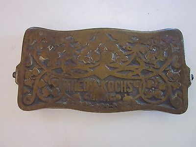 Antique Theo A Kochs Barber Shop Chair Foot Rest Part