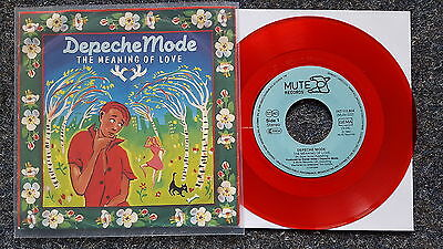 Depeche Mode - The meaning of love 7'' Single Germany RED VINYL