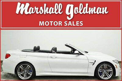 2016 BMW M4  2016 BMW M4 Convertible Alpine White with Black only 6400 miles