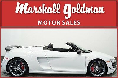 2012 Audi R8 GT Spyder Convertible 2-Door 2012 Audi R8 GT Spyder Glacier White with Black R tronic only 7700 miles
