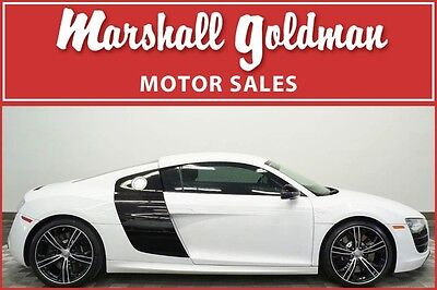 2012 Audi R8  2012 Audi R8V10 Ibis White with Black R Tronic only 14,500 miles