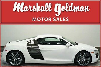 2015 Audi R8  2015 Audi R8 in Ibis White over Black leather with only 1,900 miles